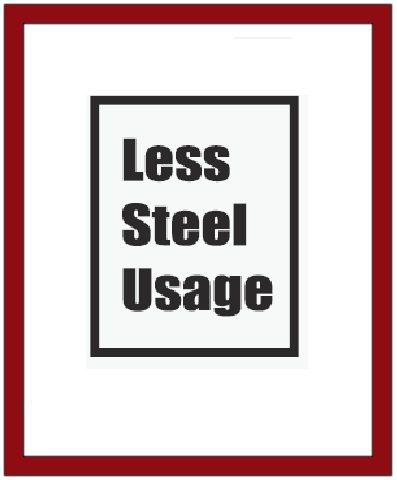 Less Steel Usage